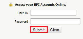 Bank of the Philippine Islands Online Banking Login Step 2