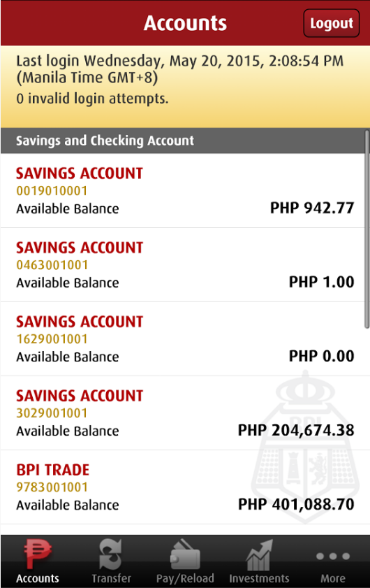 Bank of the Philippine Islands Mobile Banking