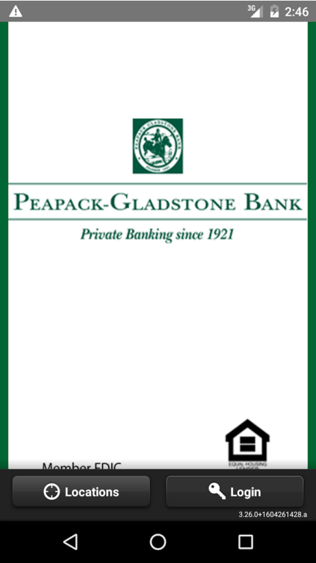 Peapack Gladstone Bank Online Banking Enroll Step 1