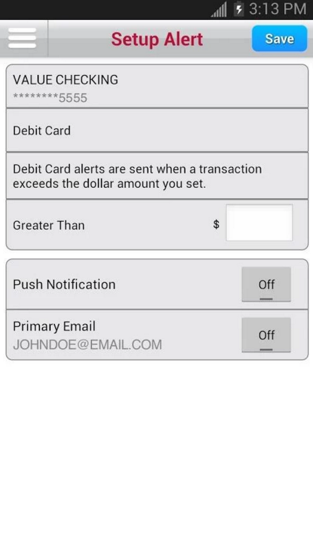 Bank of Albuquerque Online Banking Enroll Step 3